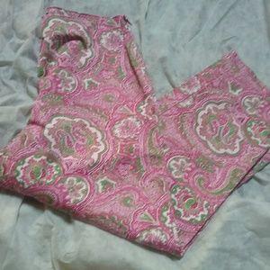 Talbots Classic Side Zip Crop Pants